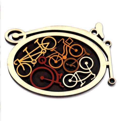 Wooden children's bike puzzle